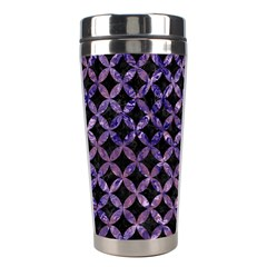Circles3 Black Marble & Purple Marble Stainless Steel Travel Tumbler
