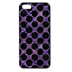 Circles2 Black Marble & Purple Marble (r) Apple Iphone 5 Seamless Case (black) by trendistuff