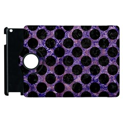 Circles2 Black Marble & Purple Marble (r) Apple Ipad 2 Flip 360 Case by trendistuff