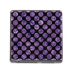 Circles2 Black Marble & Purple Marble Memory Card Reader (square) by trendistuff