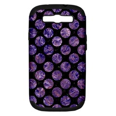 Circles2 Black Marble & Purple Marble Samsung Galaxy S Iii Hardshell Case (pc+silicone) by trendistuff