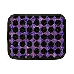 Circles1 Black Marble & Purple Marble (r) Netbook Case (small) by trendistuff