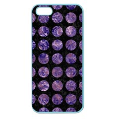 Circles1 Black Marble & Purple Marble Apple Seamless Iphone 5 Case (color) by trendistuff