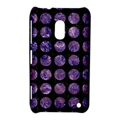 Circles1 Black Marble & Purple Marble Nokia Lumia 620 Hardshell Case by trendistuff