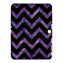 Chevron9 Black Marble & Purple Marble Samsung Galaxy Tab 4 (10 1 ) Hardshell Case