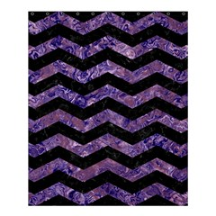 Chevron3 Black Marble & Purple Marble Shower Curtain 60  X 72  (medium)