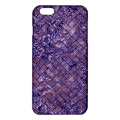 Brick2 Black Marble & Purple Marble (r) Iphone 6 Plus/6s Plus Tpu Case