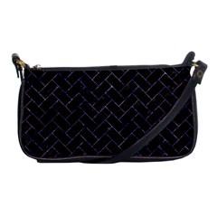 Brick2 Black Marble & Purple Marble Shoulder Clutch Bag by trendistuff