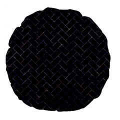 Brick2 Black Marble & Purple Marble Large 18  Premium Flano Round Cushion  by trendistuff