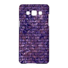 Brick1 Black Marble & Purple Marble (r) Samsung Galaxy A5 Hardshell Case  by trendistuff