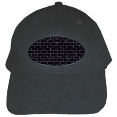 Brick1 Black Marble & Purple Marble Black Cap by trendistuff