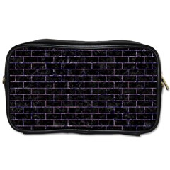 Brick1 Black Marble & Purple Marble Toiletries Bag (two Sides) by trendistuff
