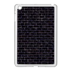 Brick1 Black Marble & Purple Marble Apple Ipad Mini Case (white) by trendistuff
