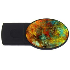 Mixed Abstract Usb Flash Drive Oval (4 Gb)  by theunrulyartist