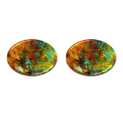 Mixed Abstract Cufflinks (oval) by theunrulyartist