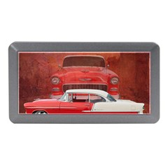 Classic Car Chevy Bel Air Dodge Red White Vintage Photography Memory Card Reader (Mini) by yoursparklingshop