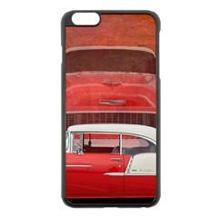 Classic Car Chevy Bel Air Dodge Red White Vintage Photography Apple Iphone 6 Plus/6s Plus Black Enamel Case by yoursparklingshop
