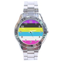 Bigender Flag Copy Stainless Steel Analogue Watch by Jojostore