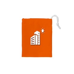 Building Orange Sun Copy Drawstring Pouches (xs)  by Jojostore