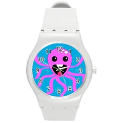 Bubble Octopus Copy Round Plastic Sport Watch (m) by Jojostore