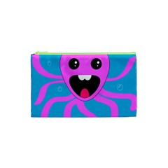 Bubble Octopus Copy Cosmetic Bag (xs) by Jojostore