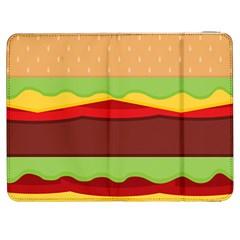 Cake Cute Burger Copy Samsung Galaxy Tab 7  P1000 Flip Case by Jojostore