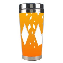 Cute Orange Copy Stainless Steel Travel Tumblers by Jojostore