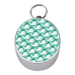 Whale Sea Blue Mini Silver Compasses by Jojostore