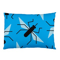 Mosquito Blue Black Pillow Case by Jojostore