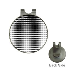Dark Circles Halftone Black White Copy Hat Clips With Golf Markers by Jojostore