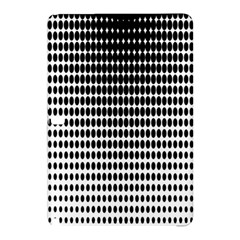 Dark Circles Halftone Black White Copy Samsung Galaxy Tab Pro 12 2 Hardshell Case by Jojostore