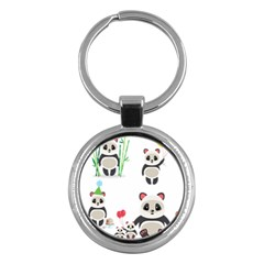 Panda Cute Animals Key Chains (round)  by Jojostore