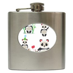 Panda Cute Animals Hip Flask (6 Oz) by Jojostore
