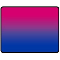 Pink Blue Purple Fleece Blanket (medium)  by Jojostore