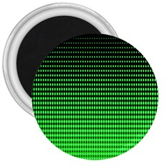 Neon Green And Black Halftone Copy 3  Magnets by Jojostore