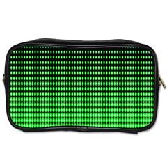 Neon Green And Black Halftone Copy Toiletries Bags 2 Side by Jojostore
