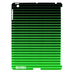 Neon Green And Black Halftone Copy Apple Ipad 3/4 Hardshell Case (compatible With Smart Cover)