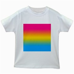 Pink Orange Green Blue Kids White T Shirts by Jojostore