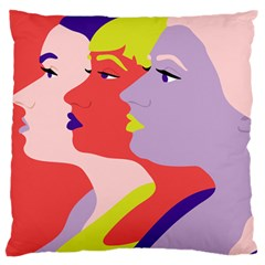 Three Beautiful Face Copy Standard Flano Cushion Case (two Sides) by Jojostore