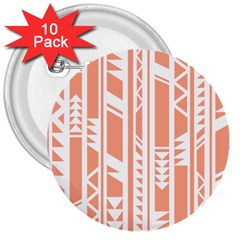 Tribal Pattern 3  Buttons (10 Pack)  by Jojostore