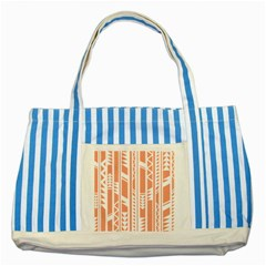Tribal Pattern Striped Blue Tote Bag by Jojostore