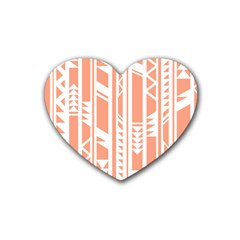 Tribal Pattern Rubber Coaster (heart)  by Jojostore
