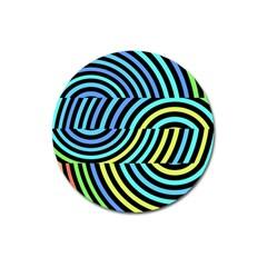Twin Tunnels Visual Illusion Casino Art Magnet 3  (round) by Jojostore