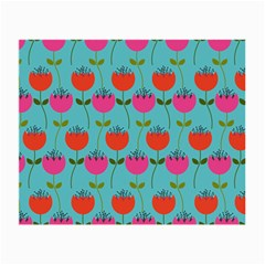 Tulips Floral Flower Small Glasses Cloth (2 Side) by Jojostore