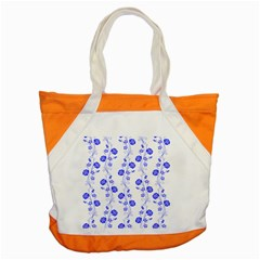 Vertical Floral Accent Tote Bag by Jojostore