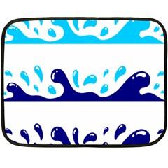 Water Double Sided Fleece Blanket (mini)  by Jojostore