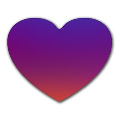 Purple Orange Blue Heart Mousepads by Jojostore
