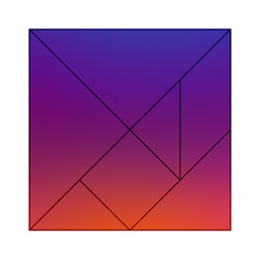 Purple Orange Blue Acrylic Tangram Puzzle (6  X 6 ) by Jojostore