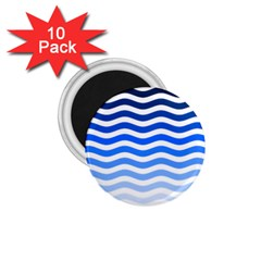 Water White Blue Line 1 75  Magnets (10 Pack)  by Jojostore