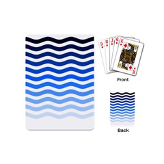 Water White Blue Line Playing Cards (mini)  by Jojostore